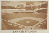 New York Yankees Yankee Stadium B&W Vintage Photo Sports Photo