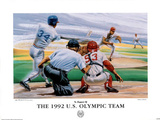 1992 US Olympic Team Baseball Barcelona Posters by Manuel S. Morales
