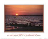 Serenity Prayer Ocean Beach Sunset Obrazy