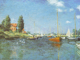 Red Boats Argenteuil, c.1875 Affiches par Claude Monet