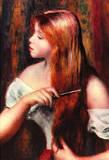 Pierre Auguste Renoir Combing Girl Art Print Poster Masterprint