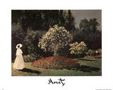 Lady in the Garden Claude Monet Posters