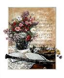 Music Clarinet Floral 1 Print