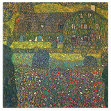 House in Attersee Affiches van Gustav Klimt