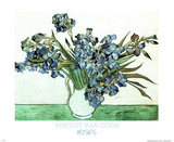 Irises In Vase Print by Vincent van Gogh