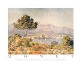 View of Antibes Poster av Claude Monet