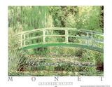 Japanese Bridge Poster af Claude Monet