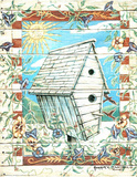 Birdhouse Morning Glory Posters