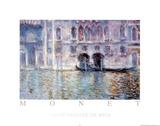 Venise Palazzo De Mula Affiches par Claude Monet