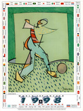 1998 World Cup Soccer Flags Affiches par Cristobal Gabarron