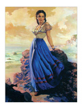 Woman at Seaside Prints