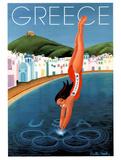 Greece 2004 U.S. Olympic Diver Posters par Debbie Brooks