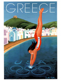 Greece 2004 U.S. Olympic Diver Posters by Debbie Brooks