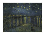 Starry Night Over the Rhone Posters af Vincent van Gogh