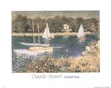 Bassin D'Argenteuil Claude Monet Posters