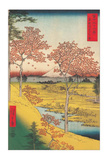 Twilight Hill at Meguro Poster by Ando Hiroshige