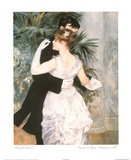 Dance In Town Print by Pierre-Auguste Renoir