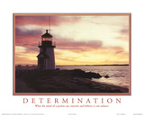 Determination Mind can Conceive and Believe It can Achieve Lighthouse Motivational Reprodukcje