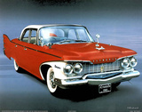 1960 Red Plymouth Print by T Richard