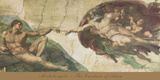 The Creation of Adam Art by Michelangelo Buonarroti