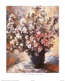 Vase A Fleurs Print by Claude Monet