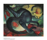 Two Cats Poster by Franz Marc