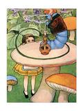Blue Caterpillar Prints by M.L. Kirk