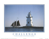 Challenge To Achieve the Possible Lighthouse Motivational Prints