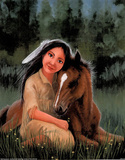 Native American (Maid & Horse) Posters