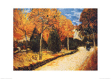 Autumn Garden Posters by Vincent van Gogh