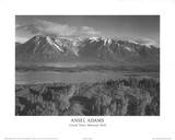 Ansel Adams - Grand Teton Milli Parkı - Reprodüksiyon