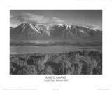 Parque Nacional Grand Teton Lámina por Ansel Adams