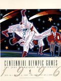 Olympic Judo, c.1996 Atlanta Plakaty autor Hiro Yamagata
