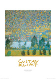 Mountain Slopes at Unterach Prints by Gustav Klimt