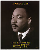 Martin Luther King Jr A Great Day President Barack Obama's Inauguration Prints