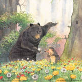 Bear and Hedgehog Poster