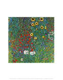 Farm Garden with Sunflowers, c.1905/1906 Posters por Gustav Klimt