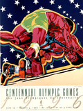 Olympic Wrestling, c.1996 Atlanta Posters by Hiro Yamagata