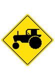 Tractor Crossing Sign Poster Posters
