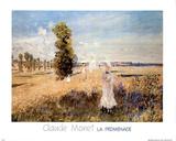 La Promenade Print by Claude Monet
