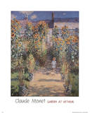 Garden at Vetheuil Print by Claude Monet