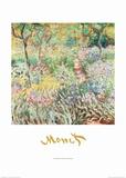 Artist's Garden at Giverny Plakat af Claude Monet