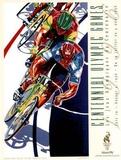Olympic Track Cycling, c.1996 Atlanta Plakaty autor Hiro Yamagata