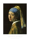 Muchacha con el pendiente de perla Láminas por Jan Vermeer