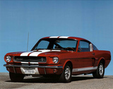 1966 Red Ford Shelby GT 350 Mustang Poster von Ron Kimball