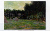 Meadow with Haystacks near Giverny Posters par Claude Monet