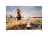 La Promenade Posters av Claude Monet