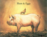 Ham and Eggs Prints by Joan Cole