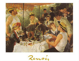 The Oarsmen's Breakfast Posters by Pierre-Auguste Renoir