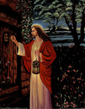 Jesus Christ Knocking at Door religious Photo